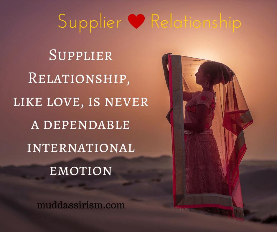 Supplier Relationship