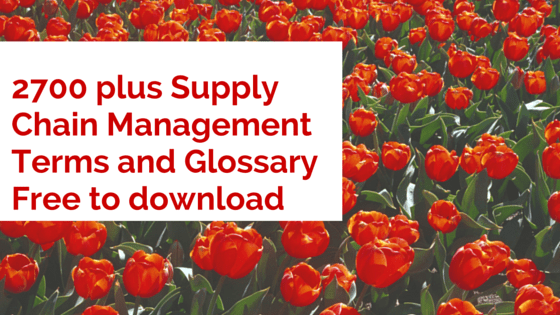 Supply Chain Management Terms and definitions