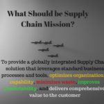 What Should be Supply Chain Mission?