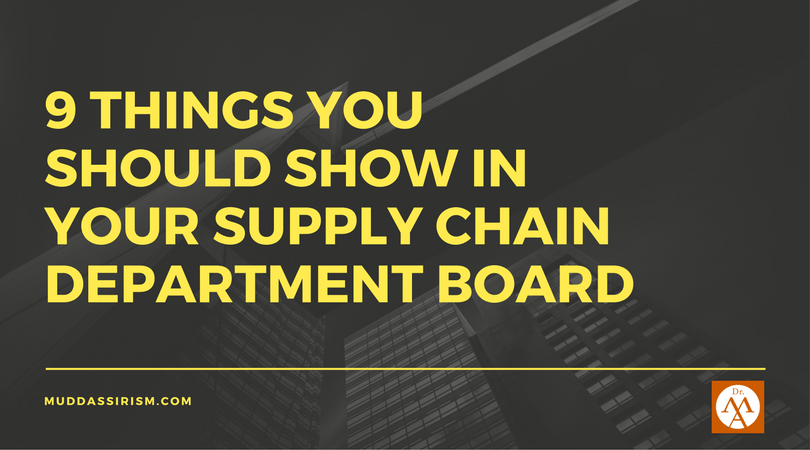 supply chain department