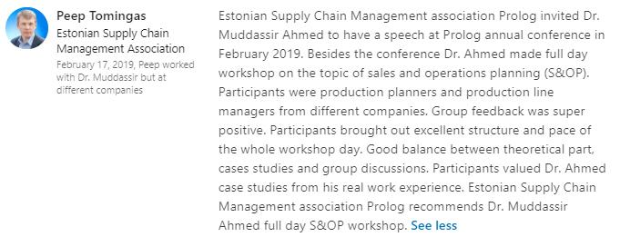 Supply Chain Trainer