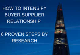6 STEPS TO INTENSIFY BUYER SUPPLIER RELATIONSHIP