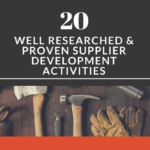 20 Well Researched & Proven Supplier Development Activities You can Apply