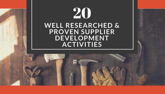 supplier development activities