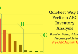 Quickest Way to Perform ABC Inventory Analysis- Based on Value, Volume & Frequency of Sales