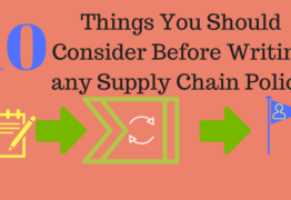 10 Things You Should Consider Before Writing any Supply Chain Policy