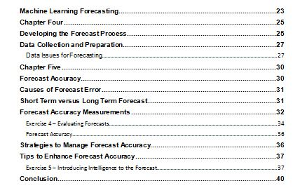 Demand Forecasting Table2