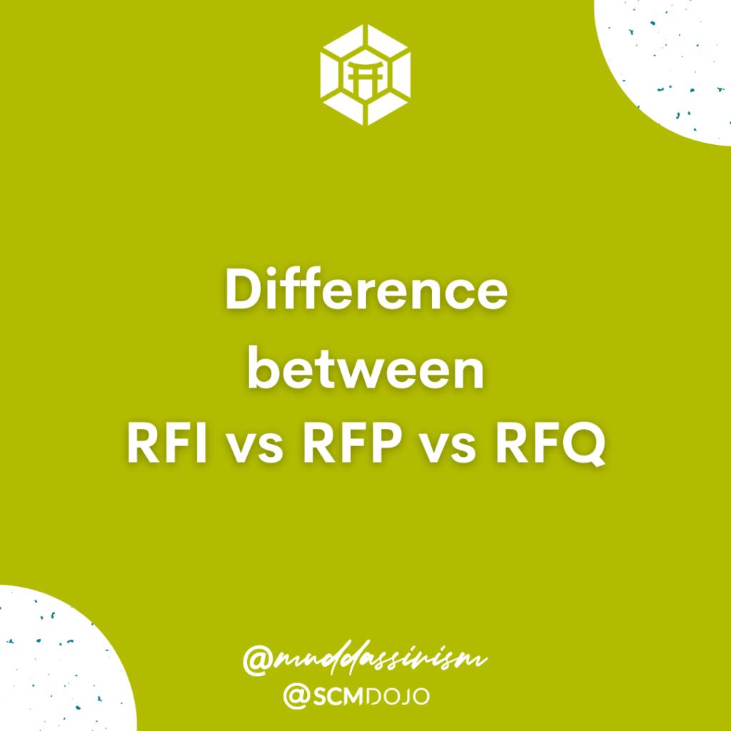 Difference Between RFI vs RFP vs RFQ
